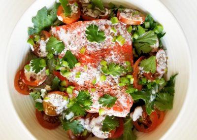 Baked Salmon Salad w_herbs