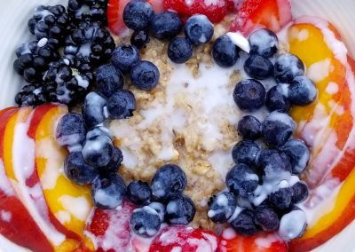Breakfast of Champions Oatmeal and Fresh Fruit